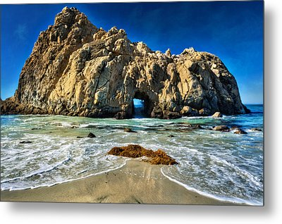 Keyhole Rock At Pheiffer Beach #13 - Big Sur, Ca Metal Print by Jennifer Rondinelli Reilly - Fine Art Photography