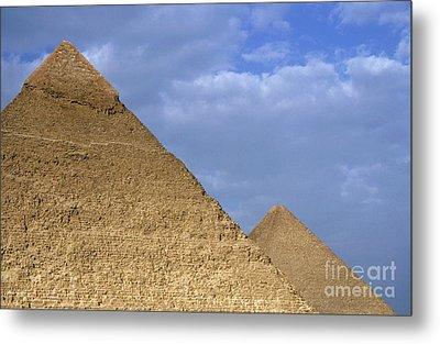 Khephren Pyramid And The Great Pyramid Metal Print by Sami Sarkis