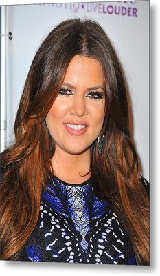 Khloe Kardashian In Attendance Metal Print by Everett