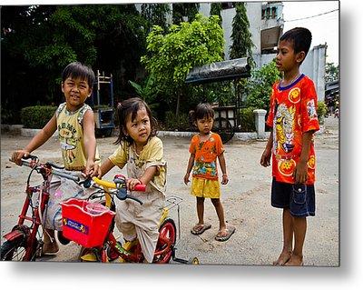 Khmer Kids Metal Print
