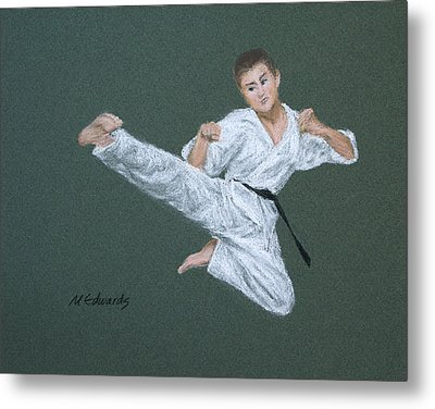 Kick Fighter Metal Print by Marna Edwards Flavell