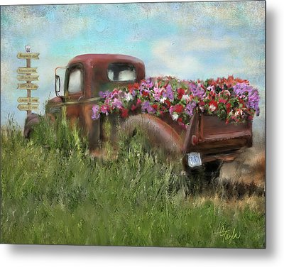 Kicks On Route 66 Metal Print by Colleen Taylor