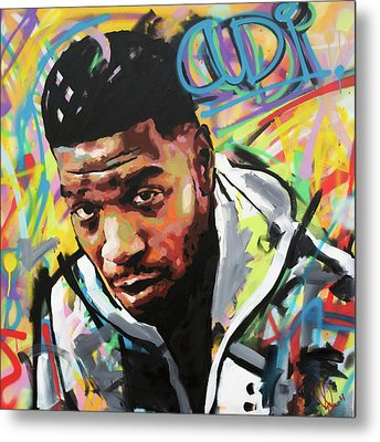 Metal Print featuring the painting Kid Cudi by Richard Day
