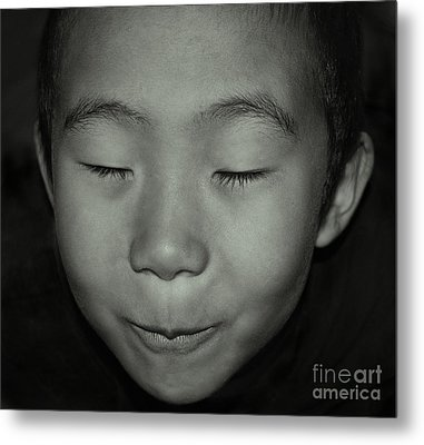 Kid From Beijing  Metal Print by Alexandra Jordankova