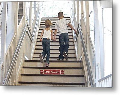 Kids Going Where They Shouldn't  Metal Print by Neil Stern