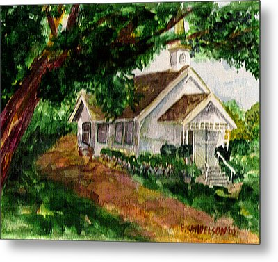 Metal Print featuring the painting Kihei Chapel by Eric Samuelson