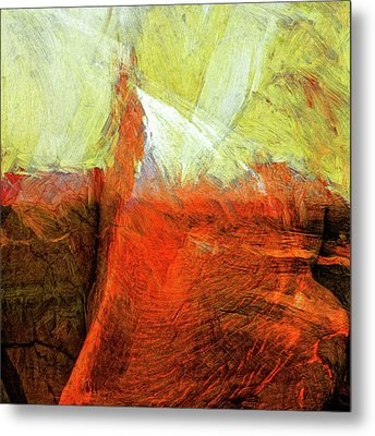 Metal Print featuring the painting Kilauea by Dominic Piperata