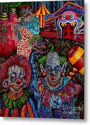 killer Klowns Metal Print by Jose Mendez