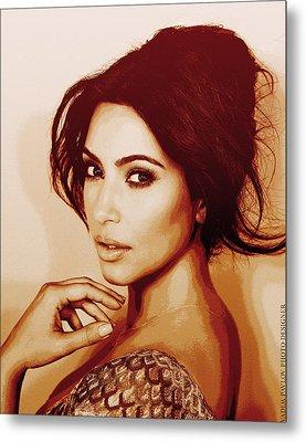 Kim Kardashian Sollievo Metal Print