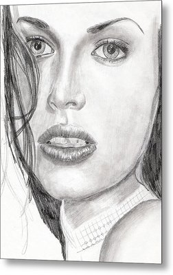 Metal Print featuring the drawing Kim by Michael McKenzie