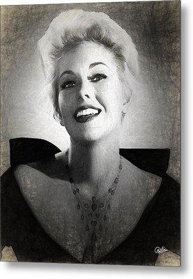 Kim Novak Actress Metal Print by Quim Abella