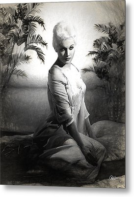 Kim Novak Sketch Metal Print by Quim Abella