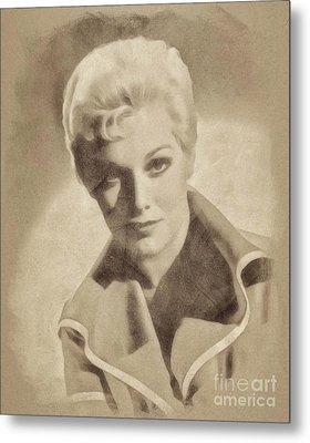 Kim Novak, Vintage Actress By John Springfield Metal Print by John Springfield