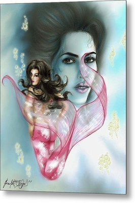Kim The Mermaid Metal Print by Scarlett Royal