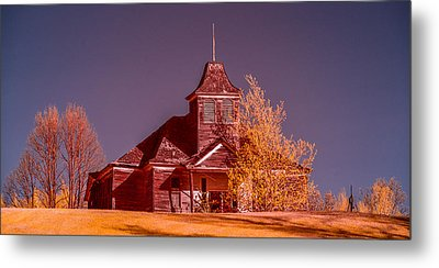 Kimberly School House Infrared False Color Metal Print by Paul Freidlund