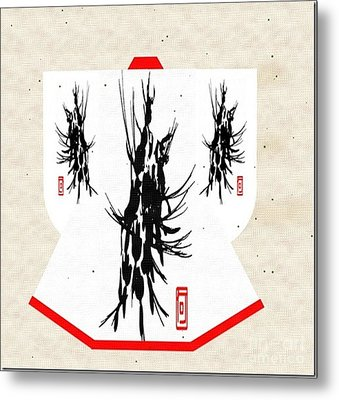 Kimono Abstract Metal Print