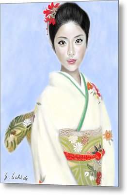 Kimono Girl No.2 Metal Print