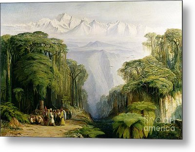 Kinchinjunga From Darjeeling Metal Print by Edward Lear
