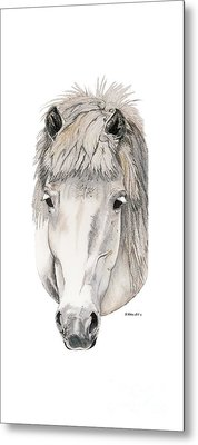 Metal Print featuring the painting Kind Eyes by Shari Nees