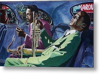 Kind Of Blue   - Miles Davis And John Coltrane Metal Print by Jo King