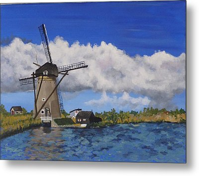 Kinderdijk Metal Print by Diane Arlitt