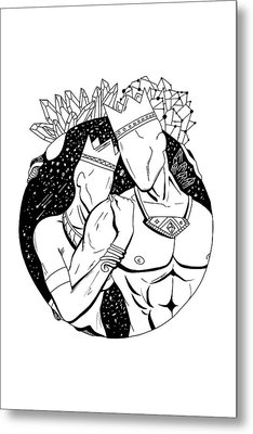 King And Queen Of The Stars Metal Print