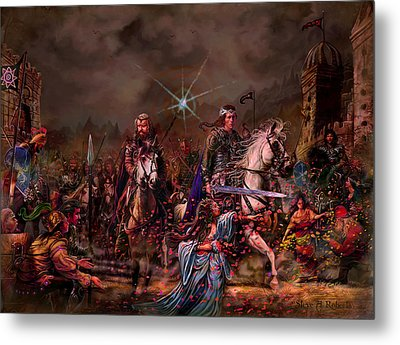 Metal Print featuring the painting King Arthur Returns by Steve Roberts