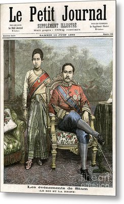 Metal Print featuring the drawing King Chulalongkorn by Granger