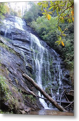 King Creek Falls Oconee County Sc Metal Print by Lane Owen