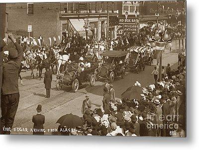 King Edgar Ariving From Alaska In Seattle Circa 1911 Metal Print