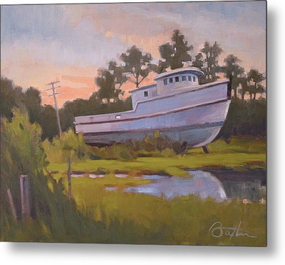 King George's Boat Metal Print by Todd Baxter