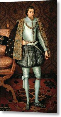 King James I Metal Print