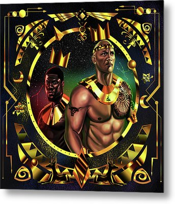 King Kevinhart And King Dwayne Johnson Metal Print by Kenal Louis