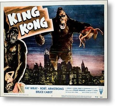 King Kong, Fay Wray, 1933 Metal Print