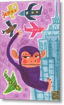 King Kong Metal Print by Kate Cosgrove