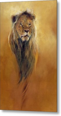 King Leo Metal Print by Odile Kidd