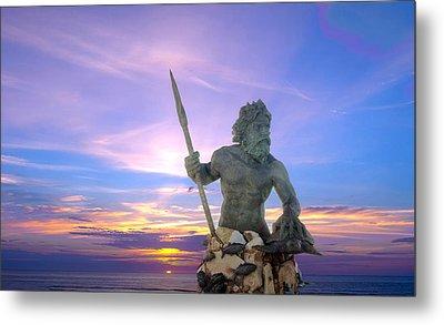 King Neptune's Sunrise Metal Print