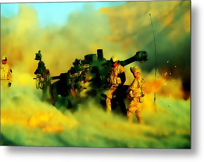 King Of Battle Metal Print by Brian Reaves