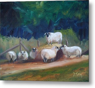 Metal Print featuring the painting King Of Green Hill Farm by Donna Tuten
