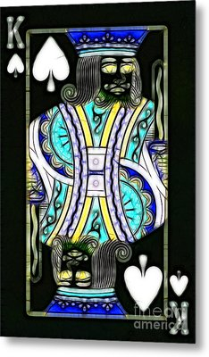 King Of Spades - V2 Metal Print by Wingsdomain Art and Photography