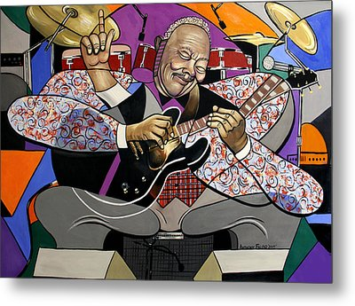 King Of The Blues Metal Print by Anthony Falbo