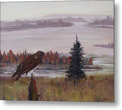 Metal Print featuring the painting King Of The Mist by Diane Daigle
