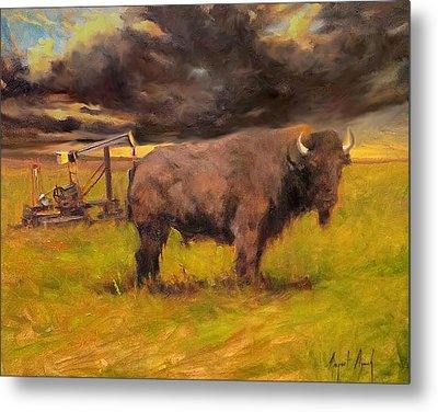 King Of The Prairie Metal Print by Margaret Aycock