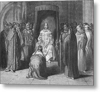 King Richard II Knighting The Kings Of Metal Print