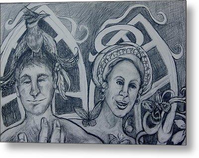 Bird And Metamorphosis Metal Print by Susan Brown    Slizys art signature name