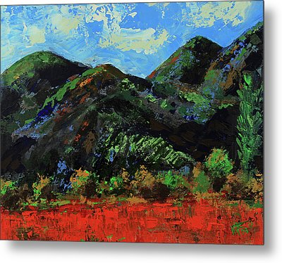 Metal Print featuring the painting Kings Canyon Fall Colors by Walter Fahmy