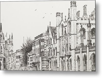 Kings College Cambridge Metal Print by Vincent Alexander Booth