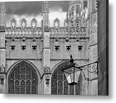 Metal Print featuring the photograph Kings College Chapel Cambridge Exterior Detail by Gill Billington