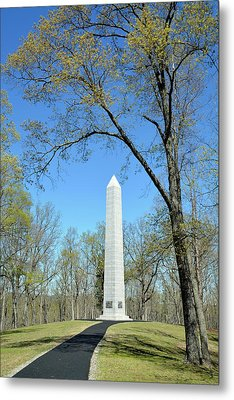 Kings Mountain National Military Park Monument Metal Print by Bruce Gourley