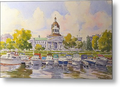 Kingston City Hall And Harbour Metal Print by David Gilmore